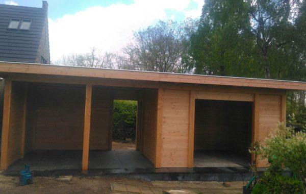 Project aanleg tuinhuis